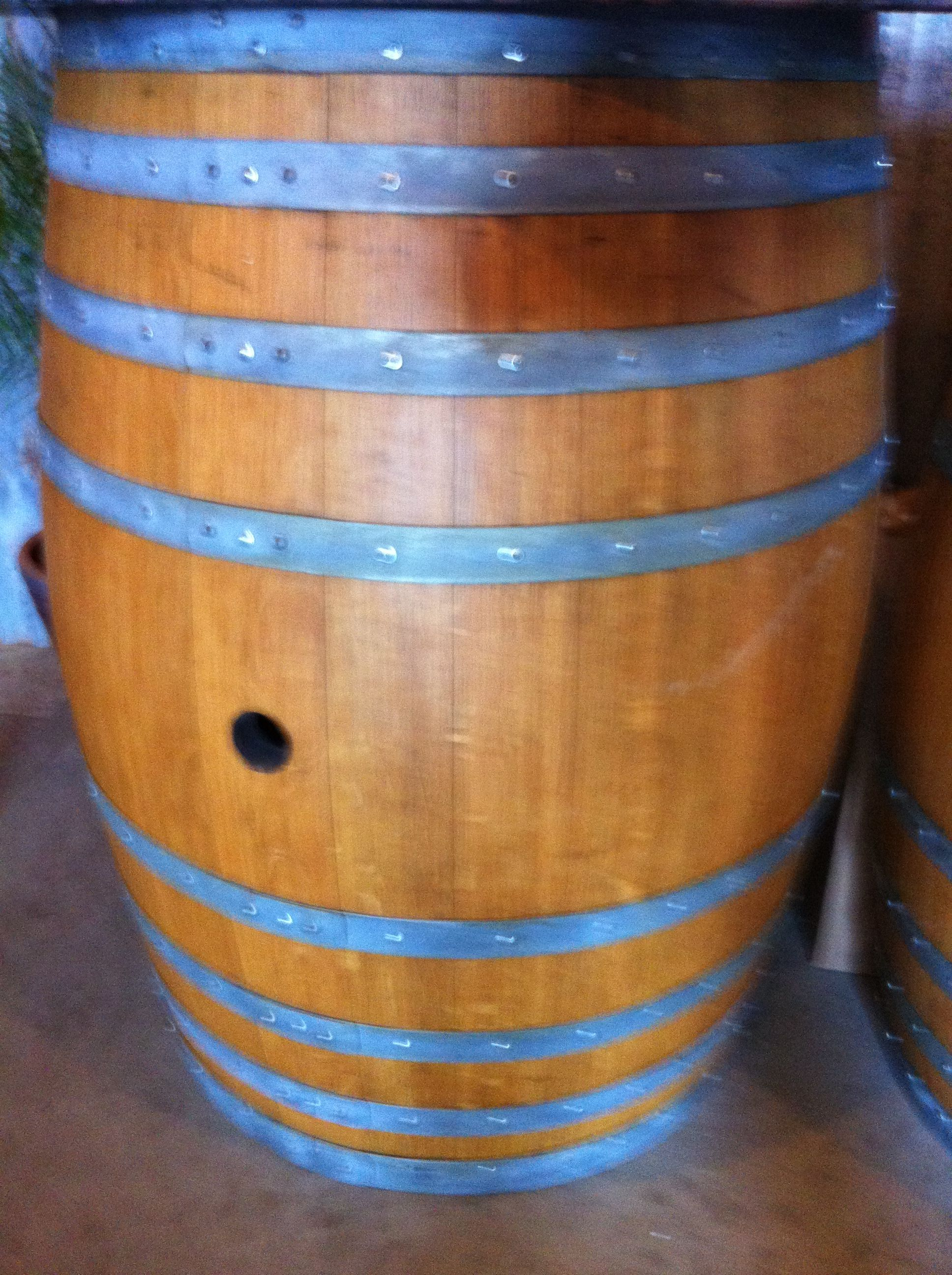 Wine Barrel At Hearthstone Winery