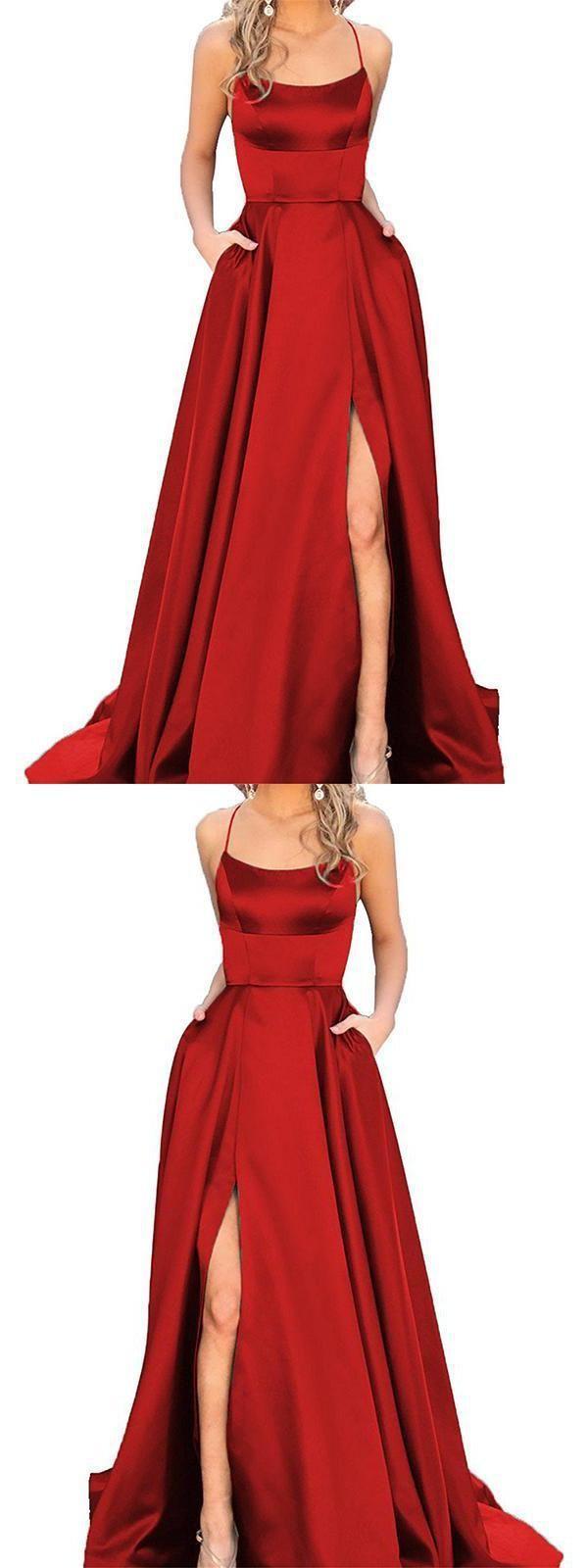 2018 Party Dresses, Party Dresses Long, Red Party Dresses, Party Dresses For Cheap Prom Dresses 2019