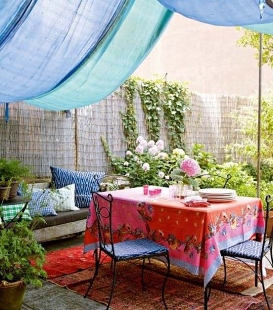 Fabric ceiling design pictures remodel decor and ideas jardin patio pergola terrasse parasol ombrage garden shade