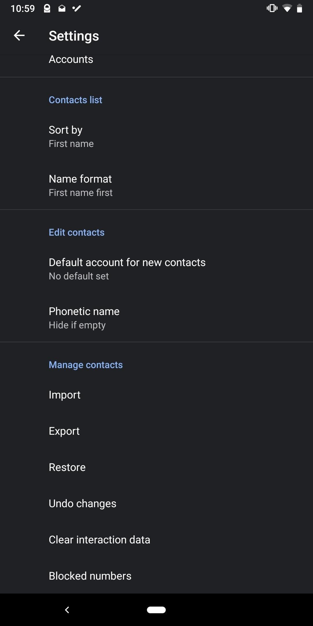 How To Enable Dark Mode In Google S Contacts App For Android Android Gadget Hacks In 2020 Android Secret Codes Android Diy Case Samsung