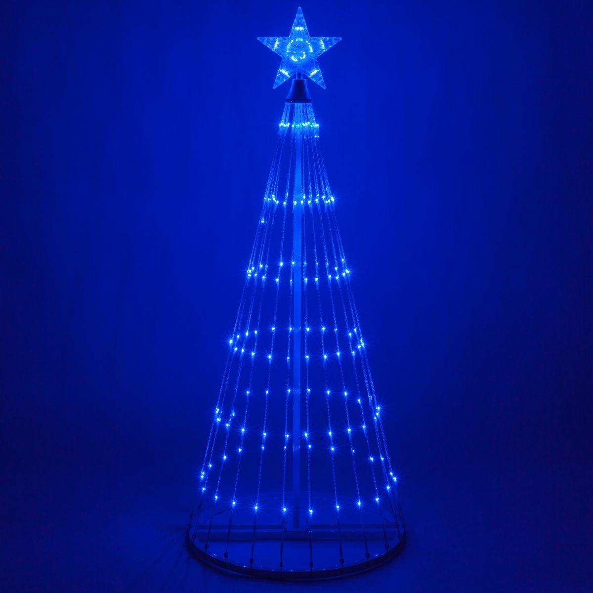 Blue Led Animated Outdoor Lightshow Tree Christmas Lights Etc Metal Tree Metal Tree Wall Art Light Display