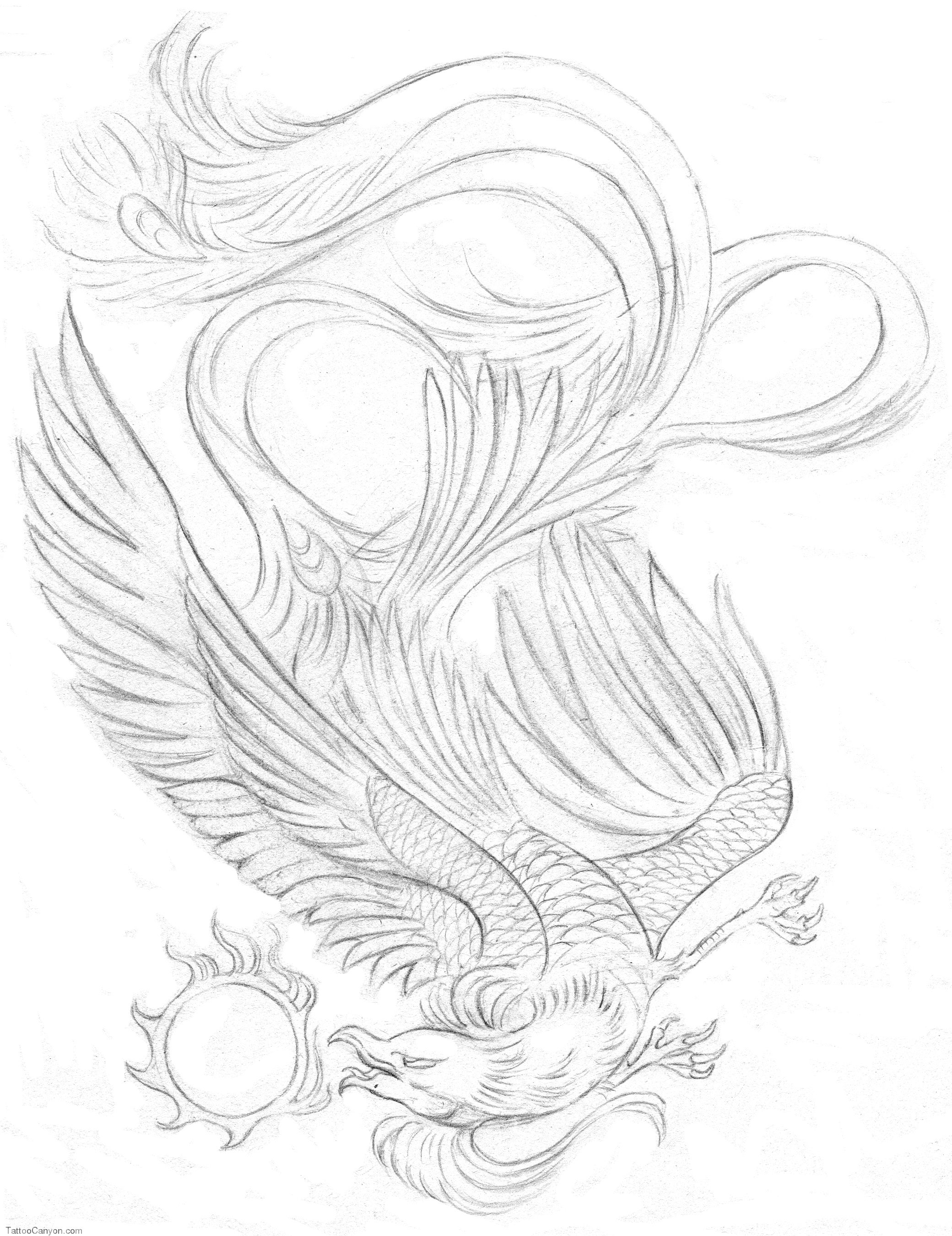 Картинки для срисовки феникса