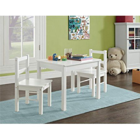 Hazel Kids 3 Piece Set Table And Chair White