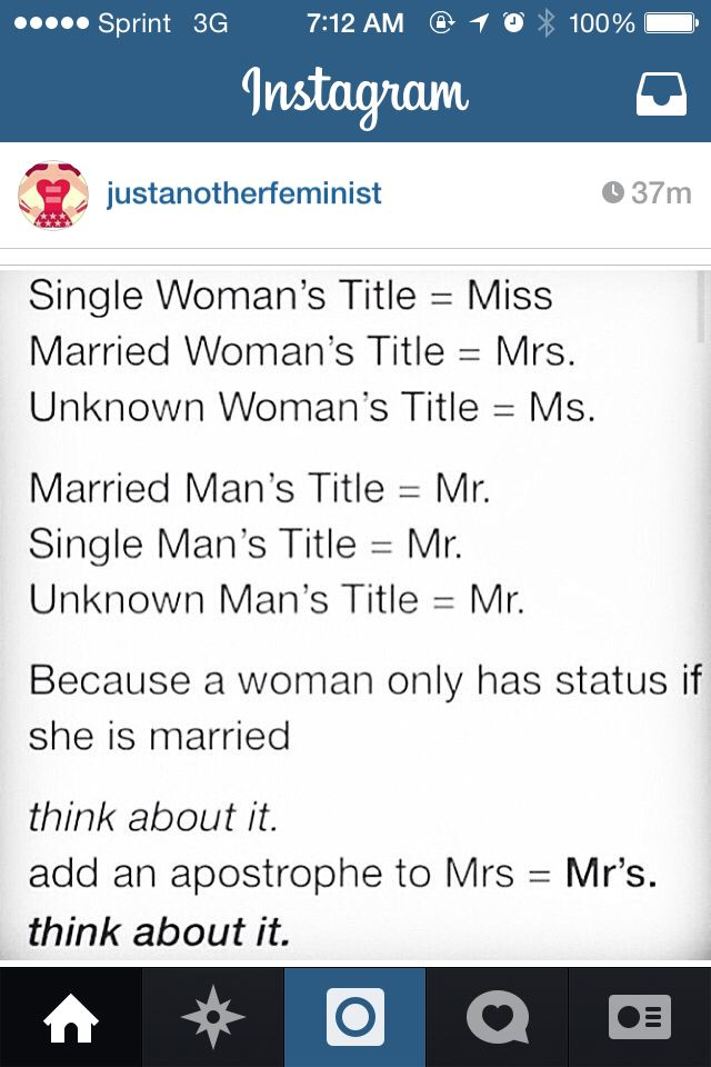 this has always bothered me mr vs mrs miss ms feminism