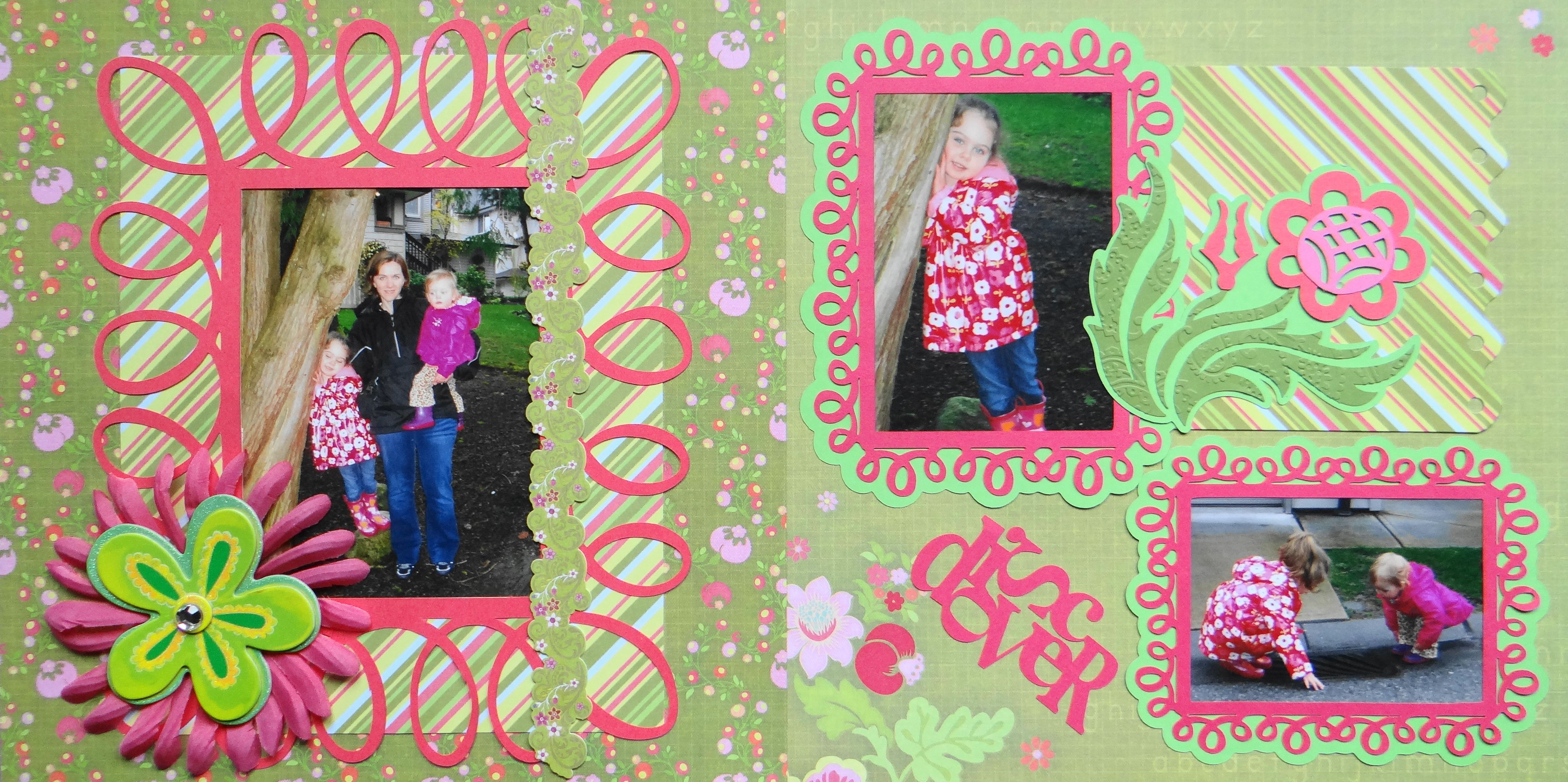 Family scrapbook ideas on pinterest - Scrapbook Page Discover Walking With Mommy 2 Page Girl Layout With Flowers