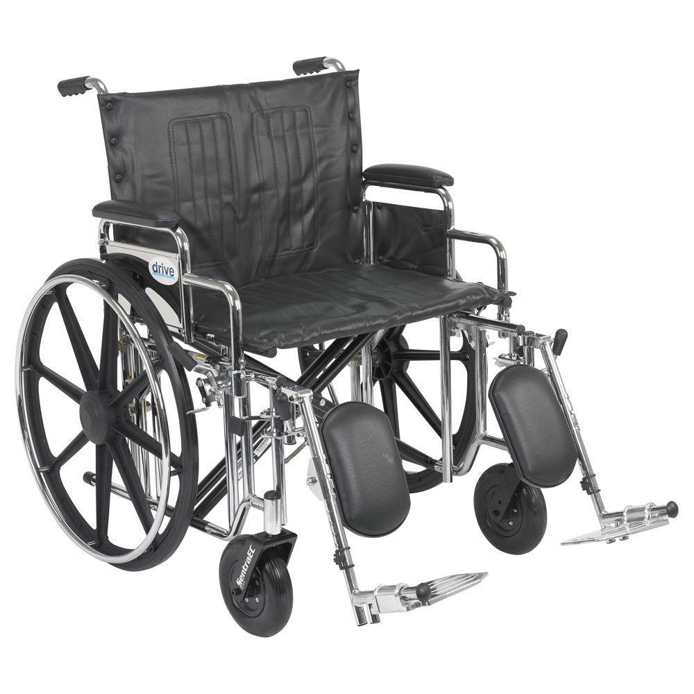 Drive medical std24ddaelr 24inch wide sentra extra heavy