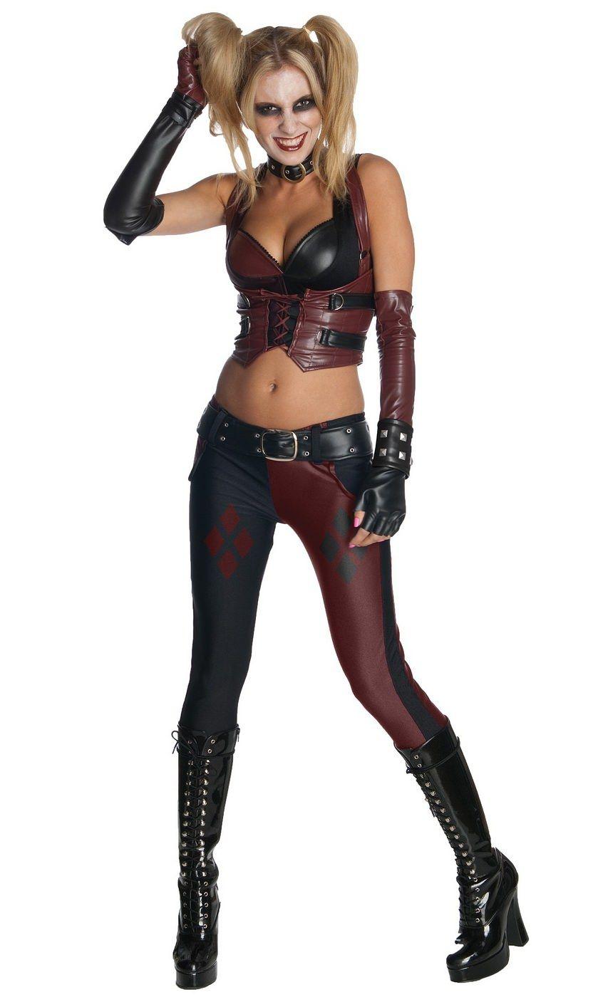 Arkham City Harley Quinn Adult Costume   Sexy Halloween Costumes ...