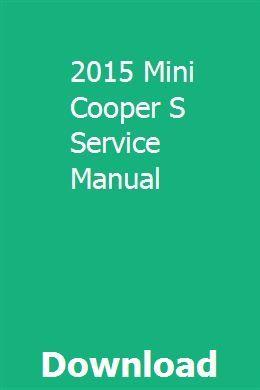 mini cooper service manual pdf download