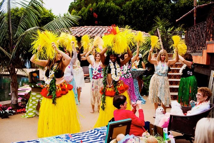 bridal shower luau party via karaspartyideascom bridalshower hawaii luau partyidea partydecorations 12