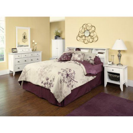 Sauder Shoal Creek 4-Piece Bedroom Set, Soft White #whitebedrooms