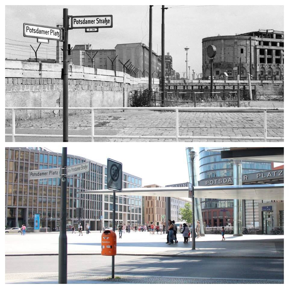 Potsdamer Platz Then Now Berlin Berlin Wall History Of Germany