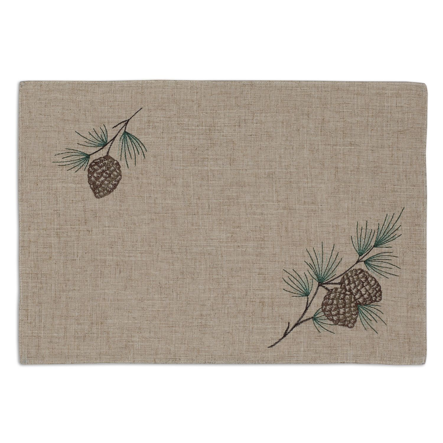 Pinecone Embroidered Placemat Wholesale Home Decor Placemats Wholesale Gifts