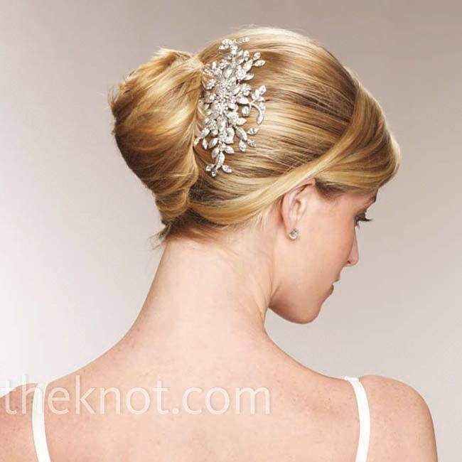 Classic Bridal Updo Hairstyle : Undo with jewelry the knot hairstyle pinterest french twists