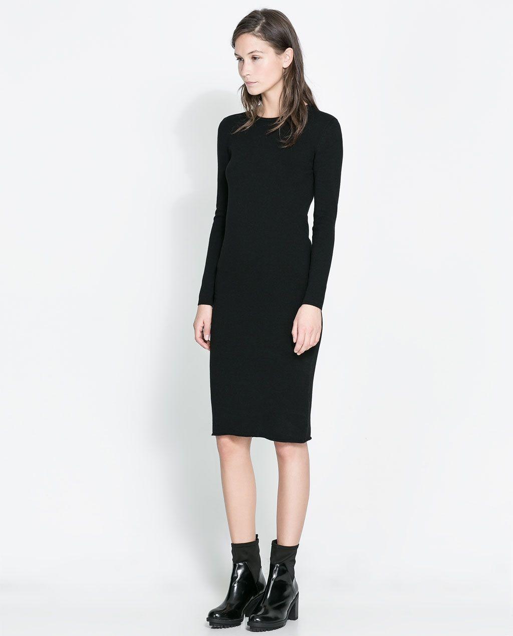 0f220f4d6dd5 like this length. Image 1 of LONG-SLEEVE DRESS from Zara | la moda ...