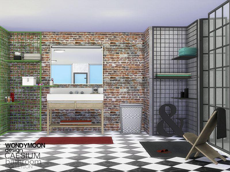 Caesium Bathroom Found In Tsr Category Sims 4 Bathroom