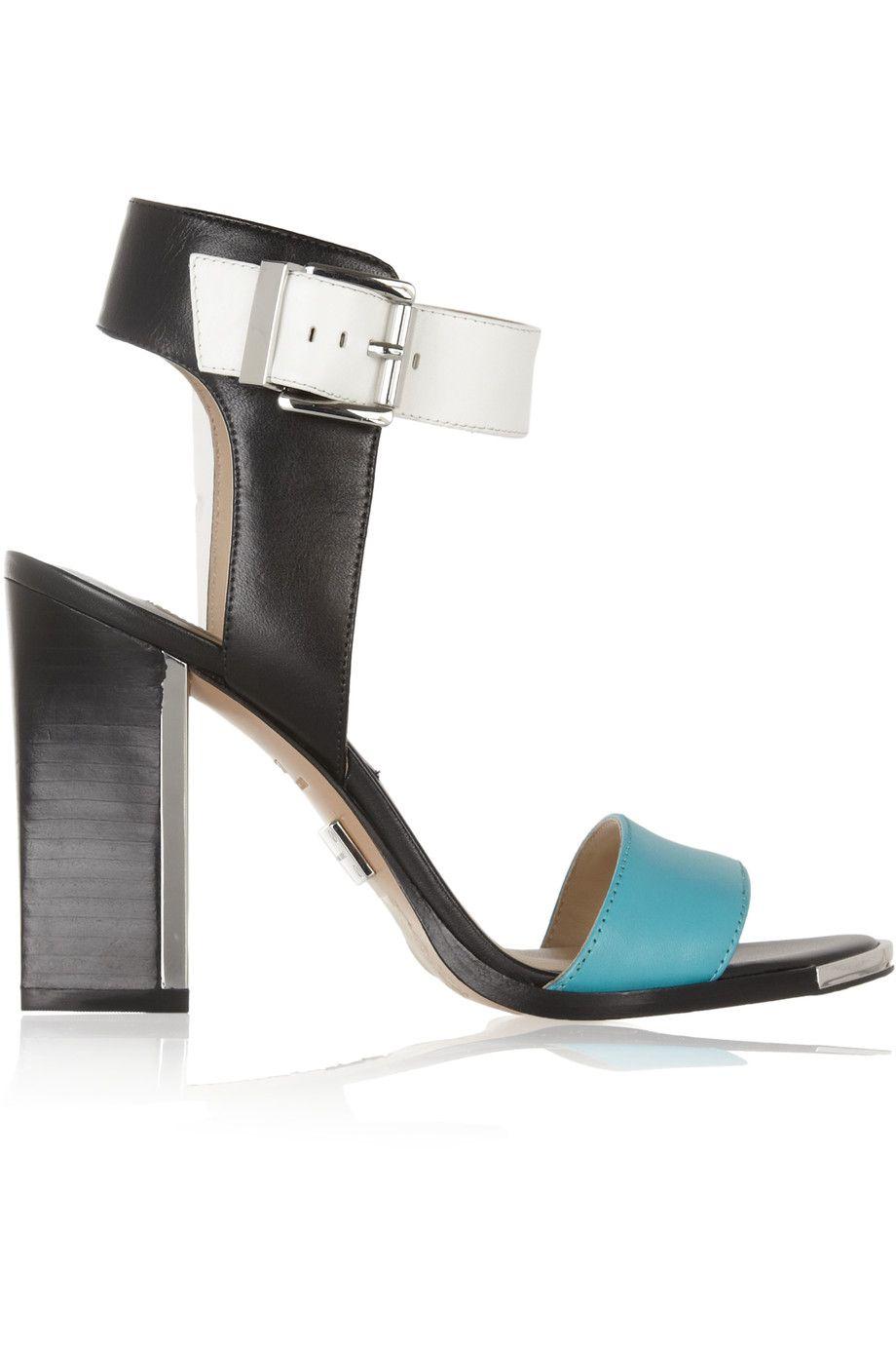 f5fabb92f9 MICHAEL KORS Carson Color-Block Leather Sandals. #michaelkors #shoes # sandals