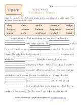 2nd grade vocabulary worksheet | Projekty do wypróbowania | Pinterest