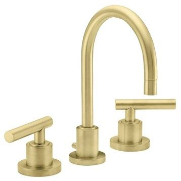 California Faucets Montara Widespread Lavatory Faucet Satin Brass - Brushed brass bathroom faucets