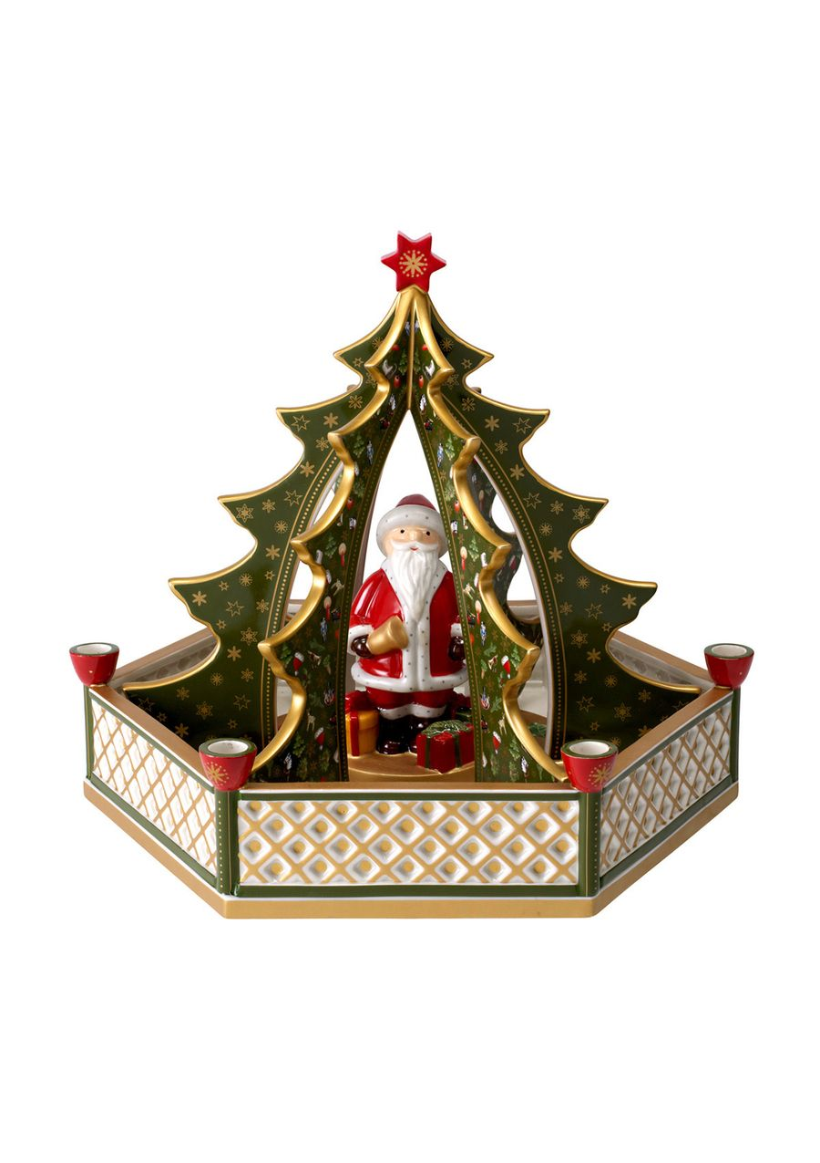 Villeroy boch christmas tree candle with santa for Villeroy and boch christmas