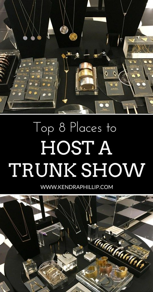 Want to host a trunk show but have no idea where to start? Kendra Phillip is sharing their top 8 places to host the most spectacular trunk show ever. | #Trunkshows #Hostatrunkshow