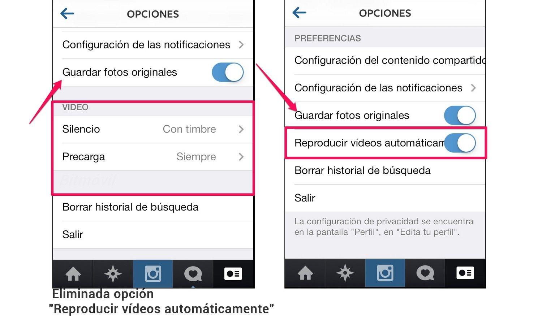 Instagram reveló que obligará la auto reproducción de