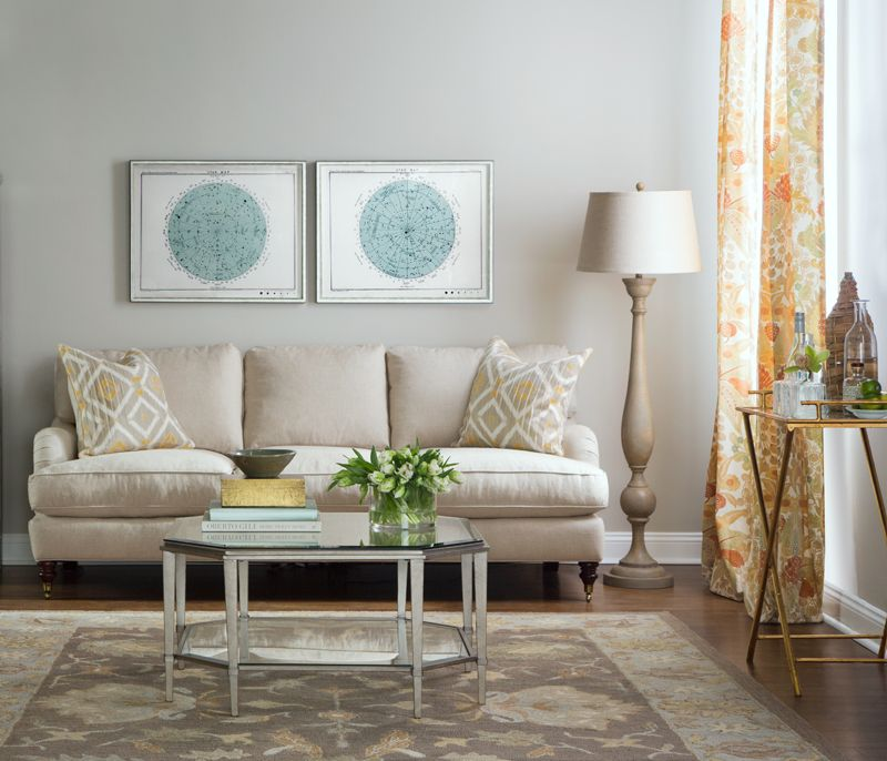 Brooke 3 Cushion Sofa Boston Interiors Client Julie L