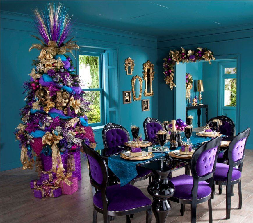 The Best Decorations for Your Christmas Tree  Blue And Purple - peacock christmas decorations