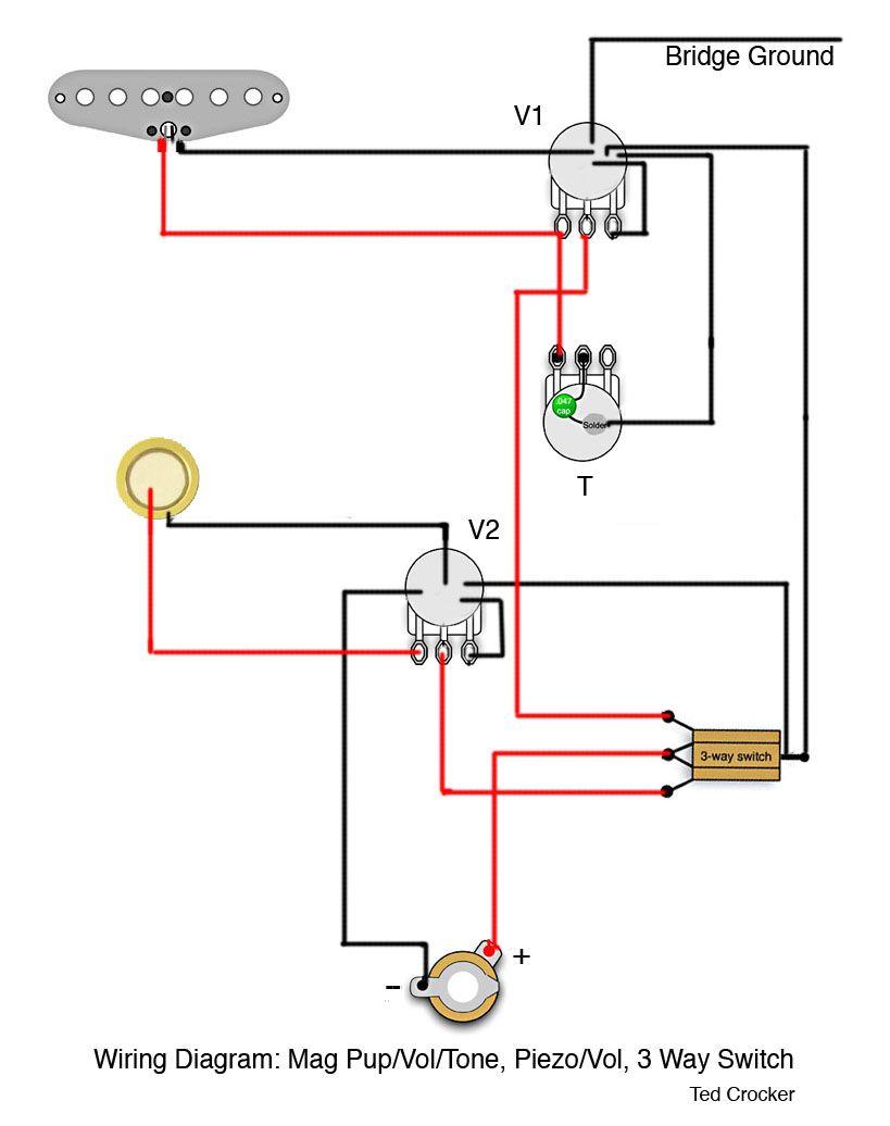 single humbucker pickup wiring diagram for 2001 ford f150 starter solenoid piezo 6 13 kenmo lp de 1 coil with vol and tone 3 way rh pinterest com arduino bridge