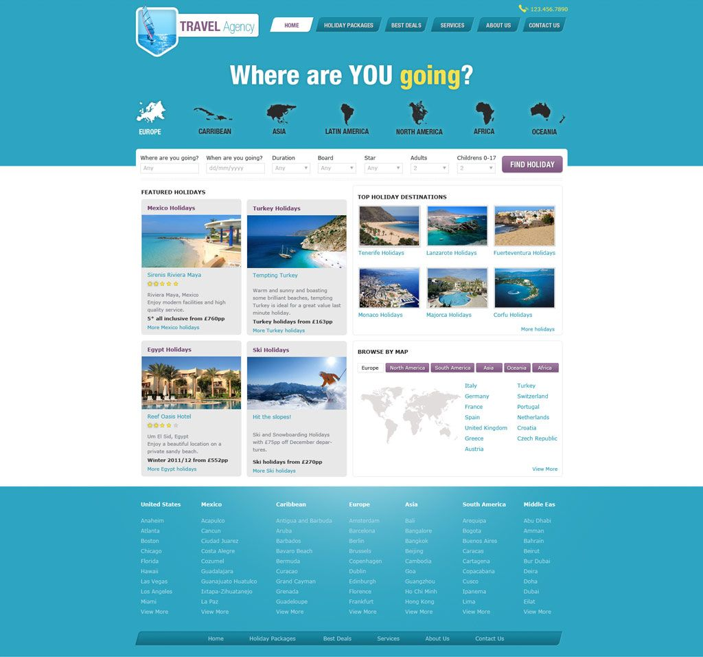 travel website templates - Google Search | check the box travel ...