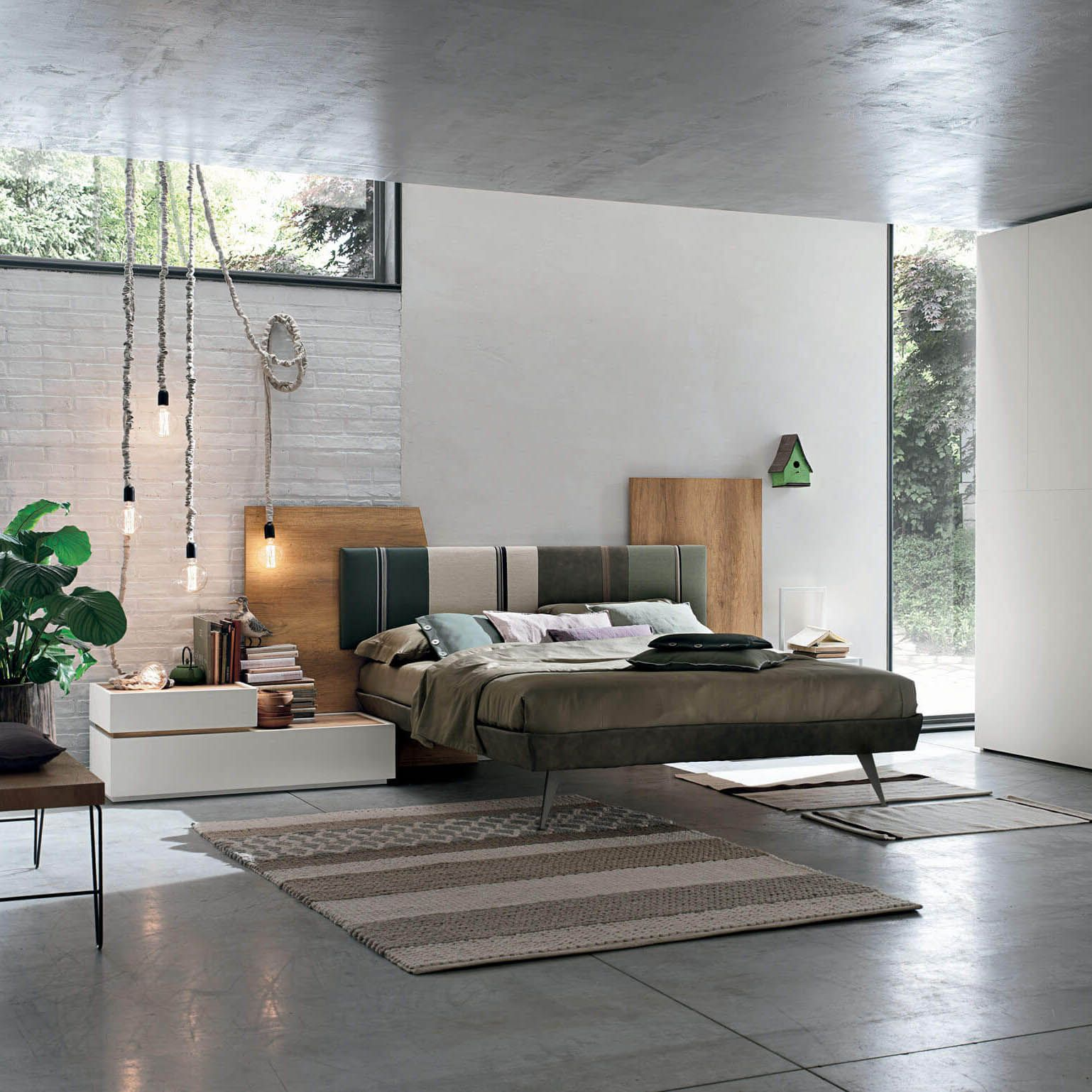 Diagonal Bed Tomasella Italy Furniture Design Modern Modern Bedroom Living Room Wall Units