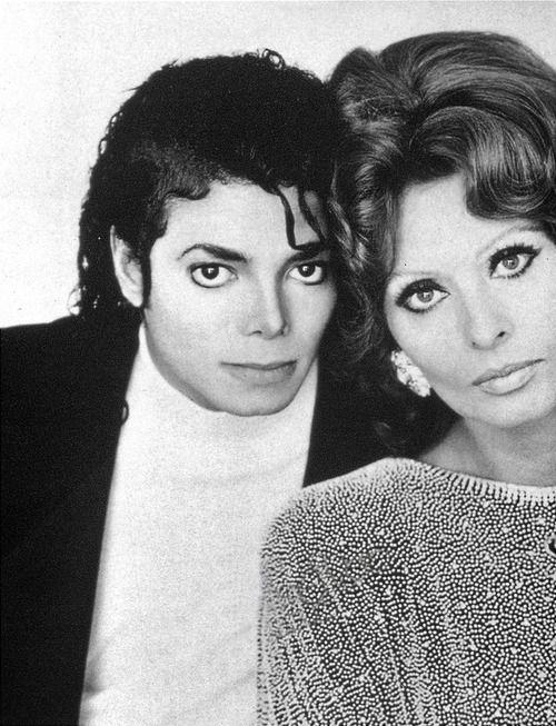 MJ & Sophia Loren