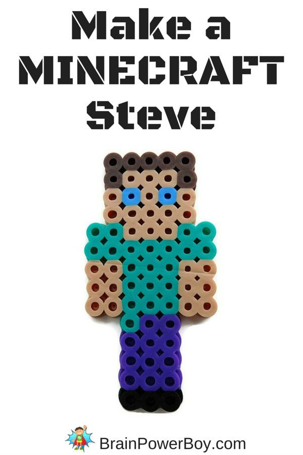 Minecraft Perler Bead Pattern Steve Minecraft Beads