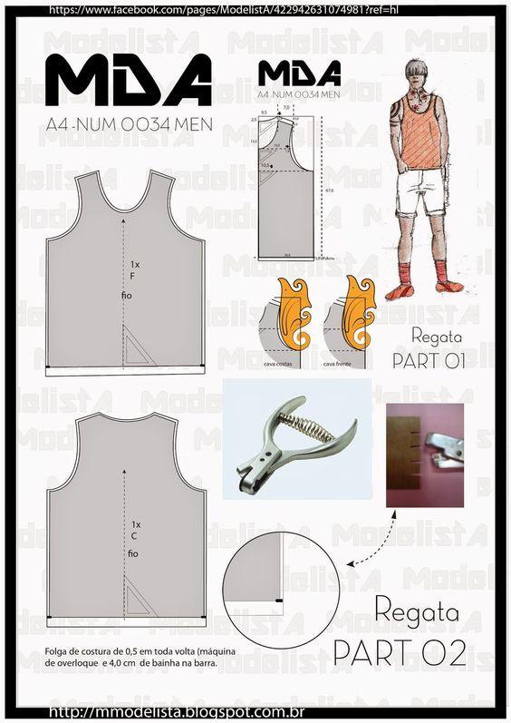 modelador: | Мужская одежда | Pinterest | Patrones, Molde y Costura