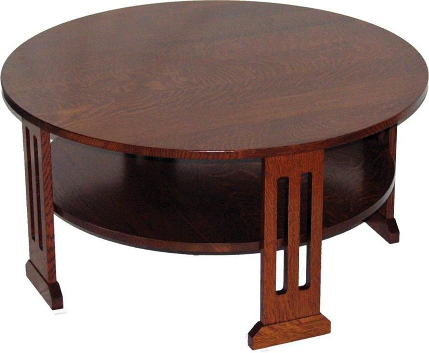 Amish contempo round coffee table coffee table round