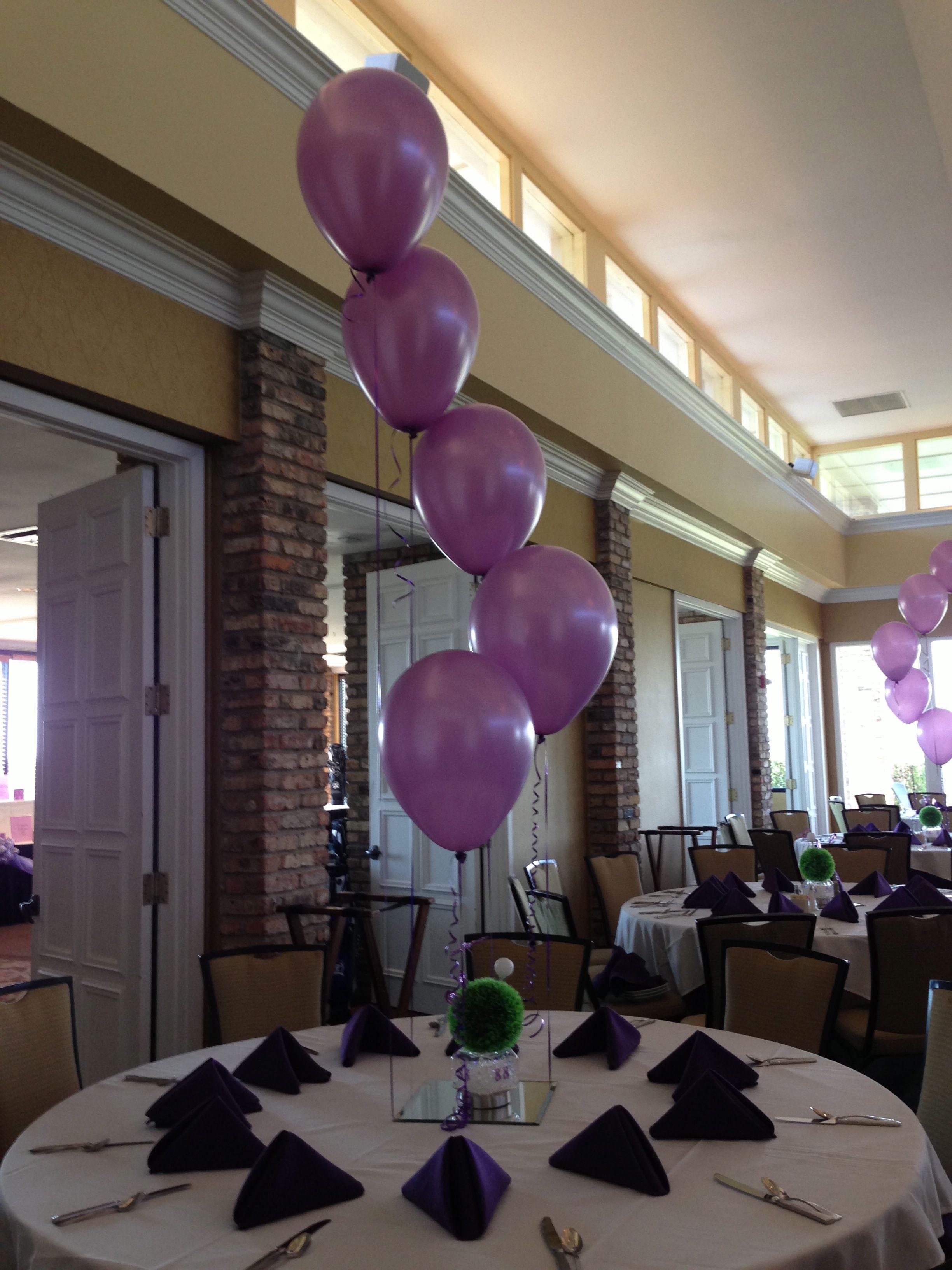 Balloon cascade centerpiece