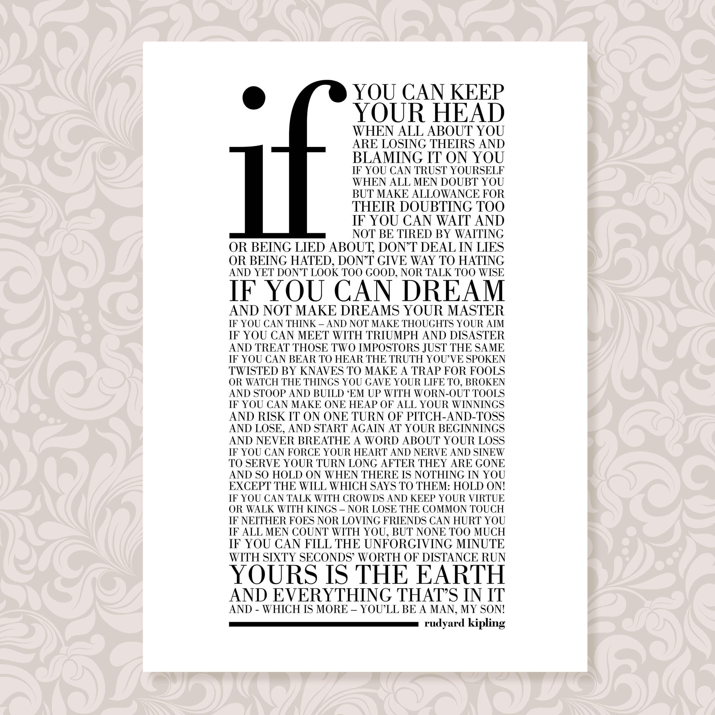 graphic relating to If by Rudyard Kipling Printable titled Pin as a result of Julie Rowland upon Brotherly appreciate If rudyard kipling