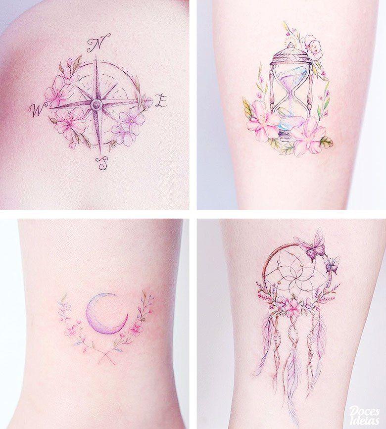 Inspirao criativa para tatuagem feminina e delicada muitas ideias tatuagem feminina gumiabroncs Images