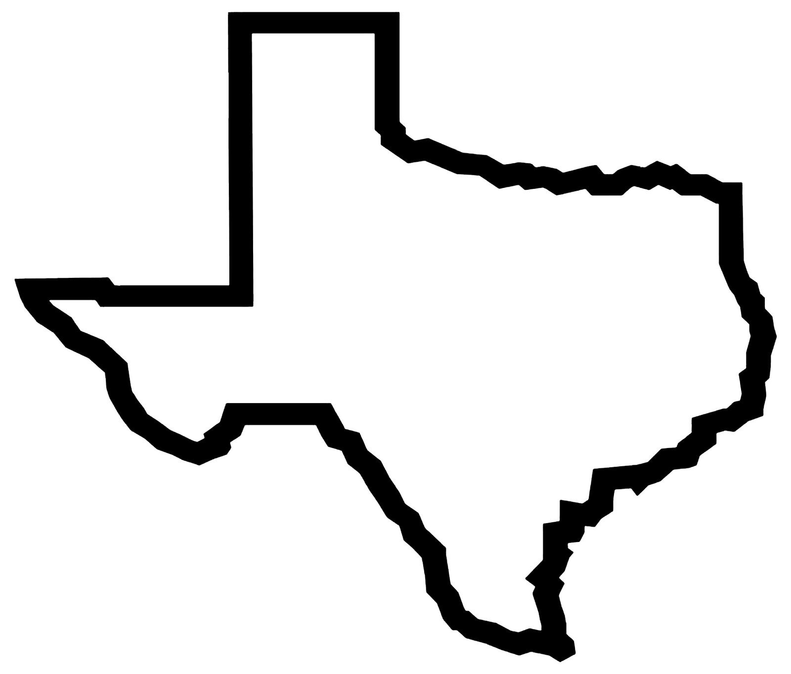 texas outline clipart free clipart images 3 [ 1600 x 1363 Pixel ]