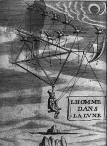 Image From The French Publication Of Francis Godwin S Man On The Moone L Homme Dans La Lune Paris 1666 Life On The Moon Utopia Dystopia Space Flight