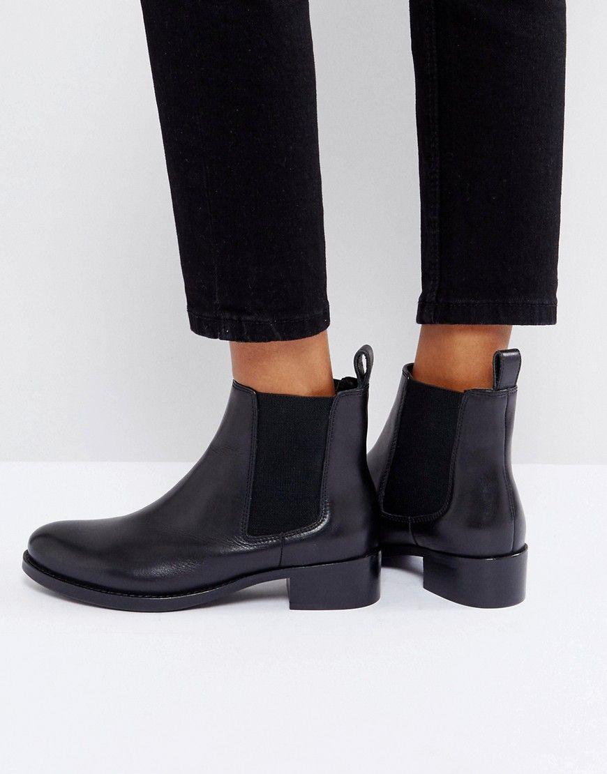 f0822408d6c DUNE PEPPIE LEATHER FLAT CHELSEA BOOTS - BLACK. #dune #shoes ...