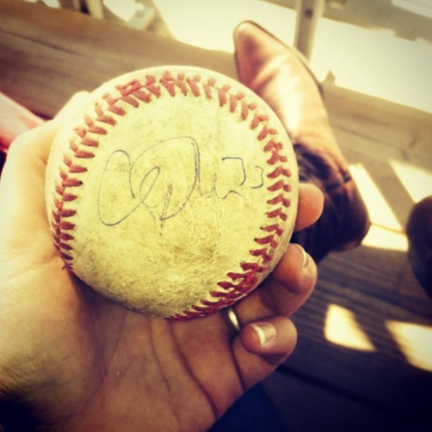Cliff Lee was at the baseball park last week