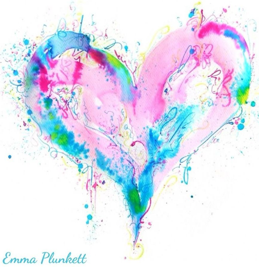 Heart quote via www.Facebook.com/WatchingWhales I love the colors in this heart.