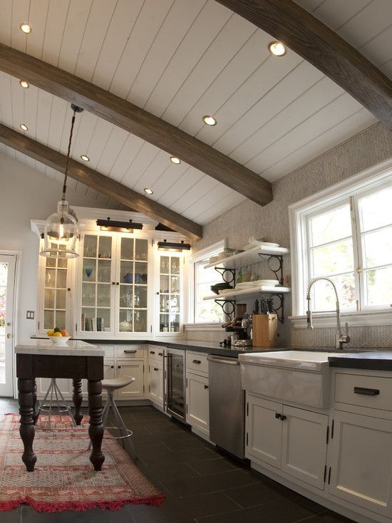 Kitchen Box Beam Ceiling Design Pictures Remodel Decor And Ideas Page 6 With Images Rustic Kitchen Design Kitchen Ceiling Wooden Ceiling Design
