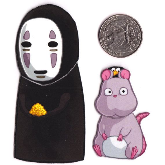 Mix And Match Magnets No Face Mouse And Bird Spirited Away Etsy Chibi Ghibli Spirited Away