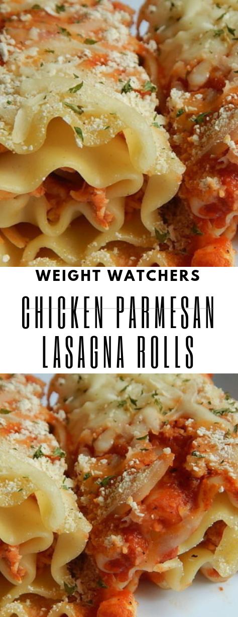 CHICKEN PARMESAN LASAGNA ROLLS #chickenparmesan