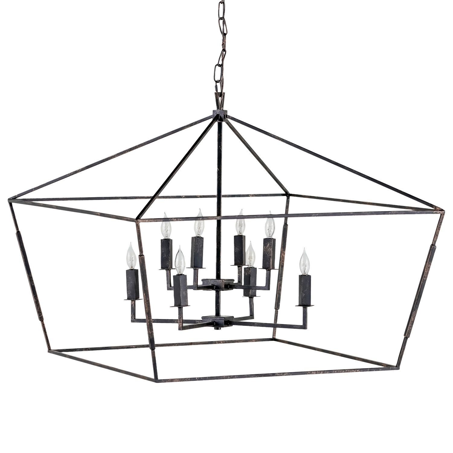 large sized lantern chandelier for great room