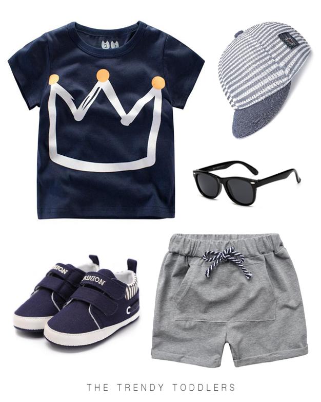 blue seven Baby Jungen Set Shorts Shirt 68, Dark