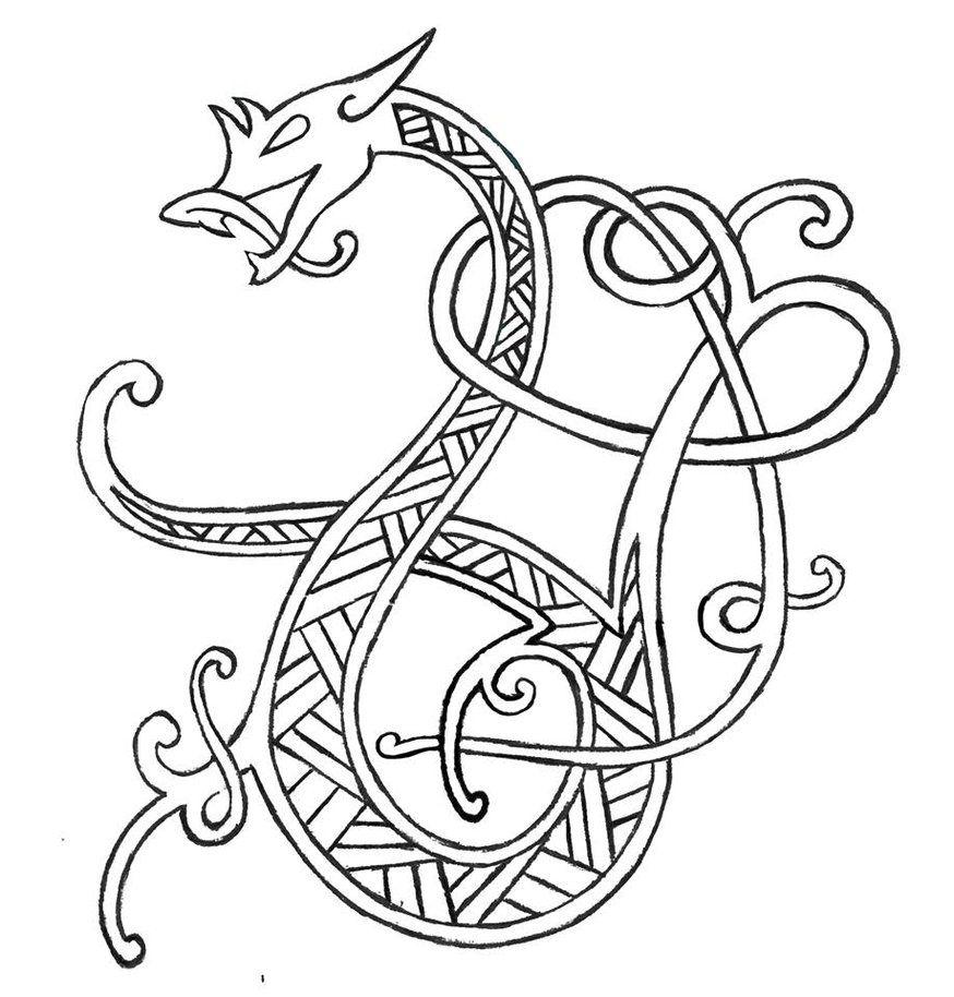 Кельтский дракон картинки