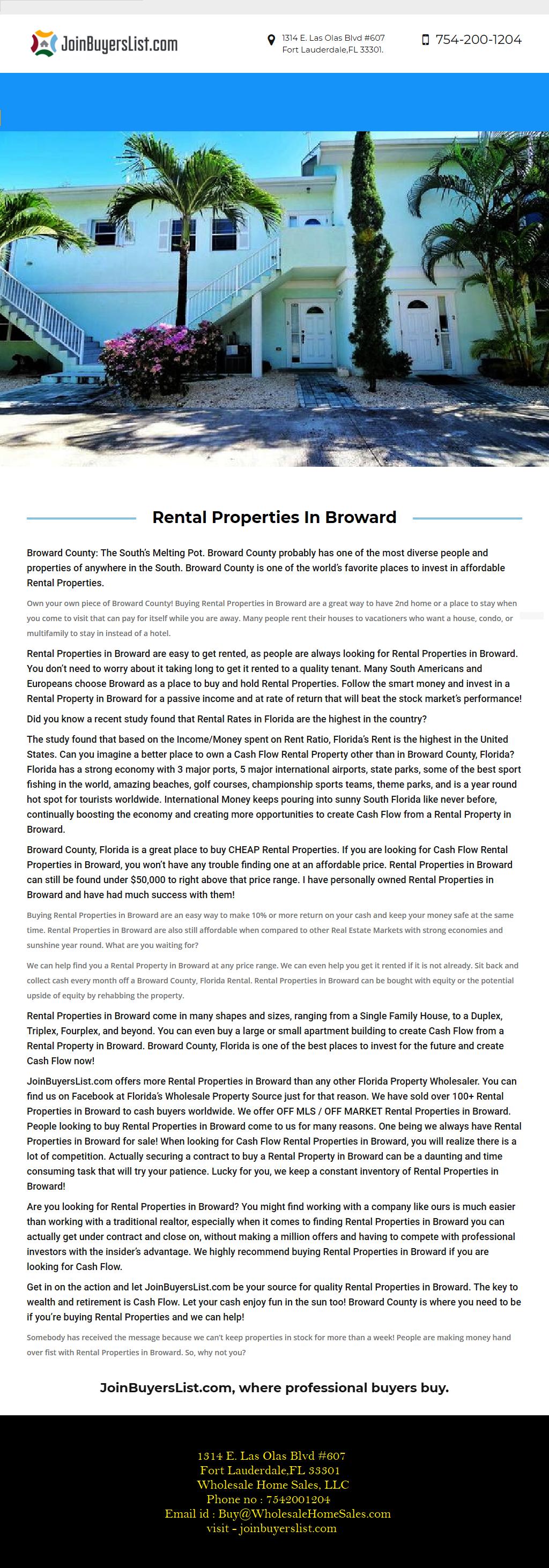 Rental Property In Broward Joinbuyerslist Com Offers More Investment Properties In Davie Than Any Other Florida P Investment Property Rental Property Outdoor