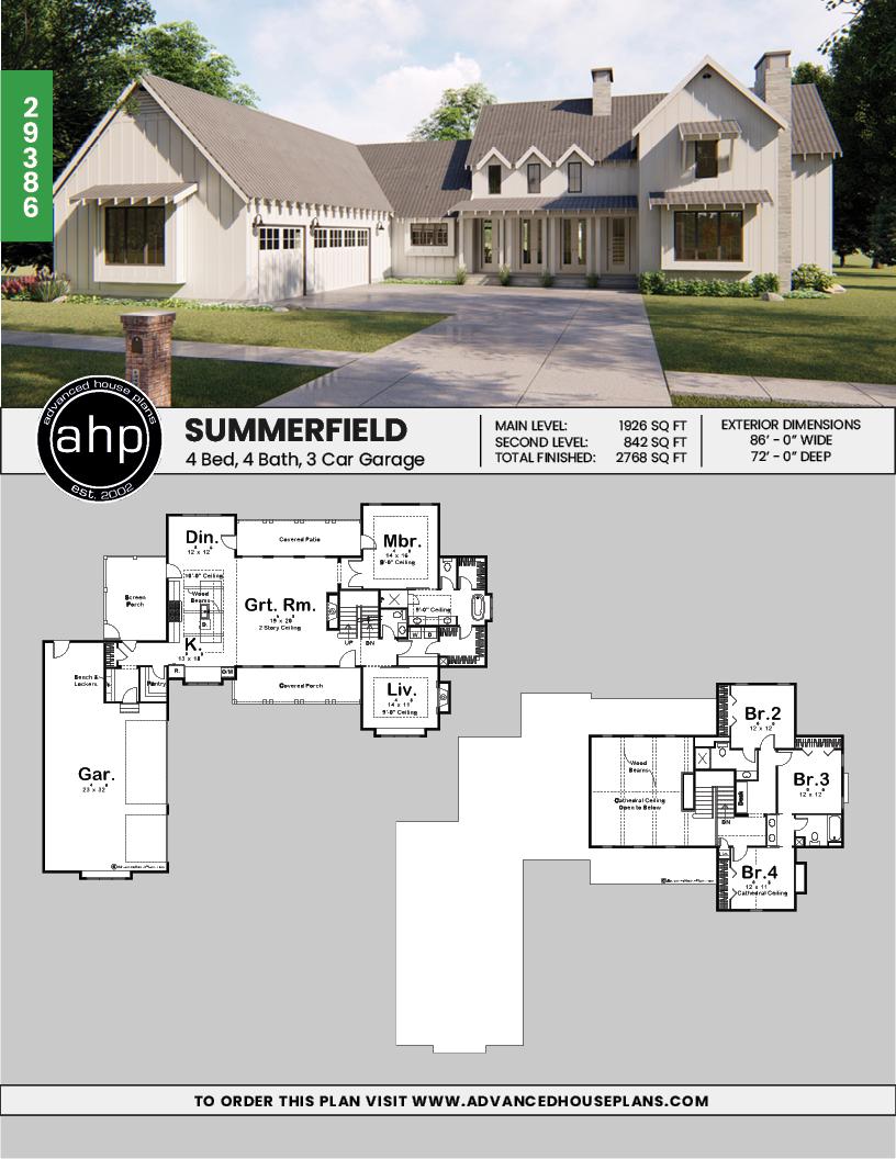 1 1 2 Story Modern Farmhouse House Plan Summerfield House Plans Farmhouse Farmhouse Floor Plans Farmhouse House